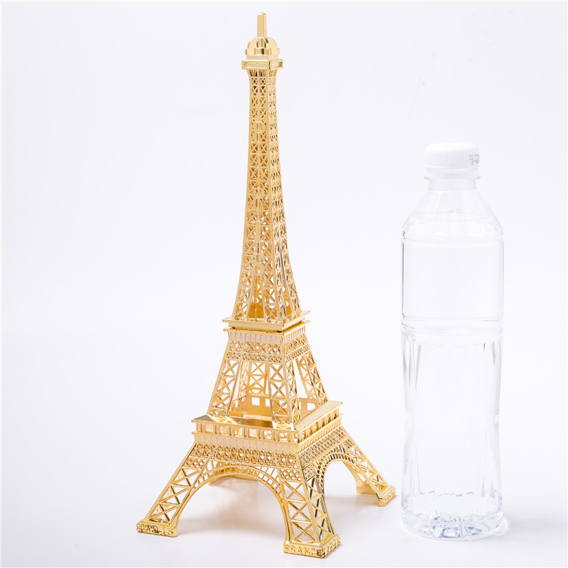 Gold Eiffel Tower Decor Zinc Alloy Home Decoration Improvement Gift Decorative Wine Cabinet