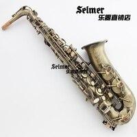 French Salma 54 E Flat Alto Saxophone Instrument Bronze Antique Sax Copper Tube