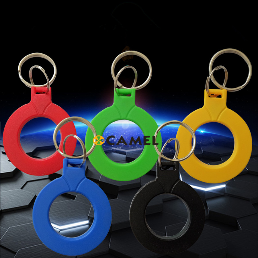 Keychain Keyfobs EM4100 Read only RFID Cards ID Card Control Access Token Tag Key Ring Proximity Card 125Khz 10Pcs/lot