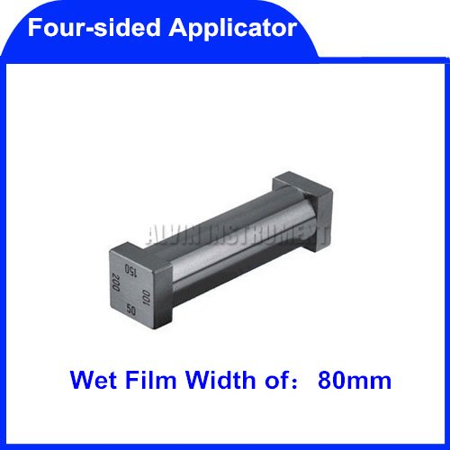 Free Shipping four-sided Applicator(Coater) Film coaters application applicators  Wet Film Width:80mm  Standars: ASTM D 823-25  цена и фото