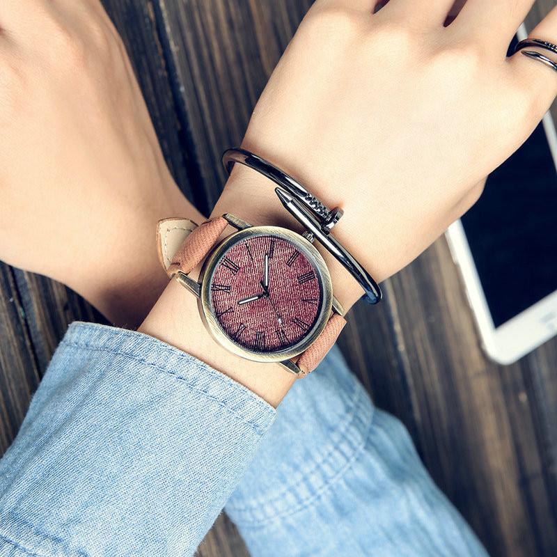 MEIBO Relojes Women Quartz Watches Denim Design Leather Strap Male Casual Wristwatch Relogio Masculino Ladies Watch female watch 7