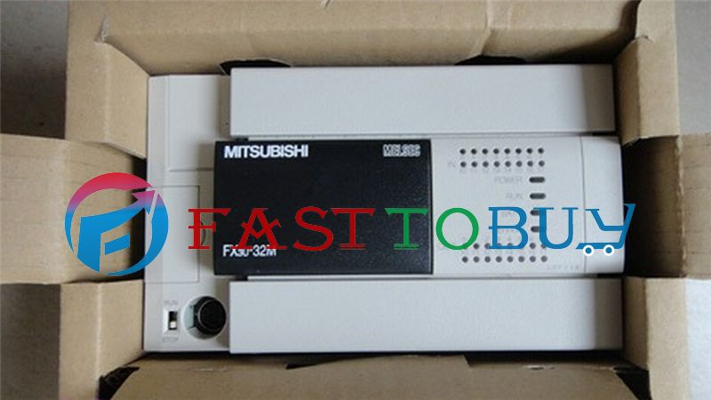 NEW FX3U-32MT-ES-A PLC 100-240V AC 16DI 16DO Transistor Original with Programing Cable One Year Warranty  цены