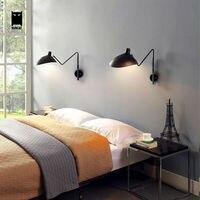 Black White Nordic Scandinavian Wall Sconce Light Duckbill Shade Lamp Fixture Bedroom Bedside Lampe De Chevet