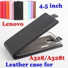 Новый флип личи case для lenovo a328 телефон case роскошный кожаный вертикальный флип чехлы для lenovo a 328 обложек