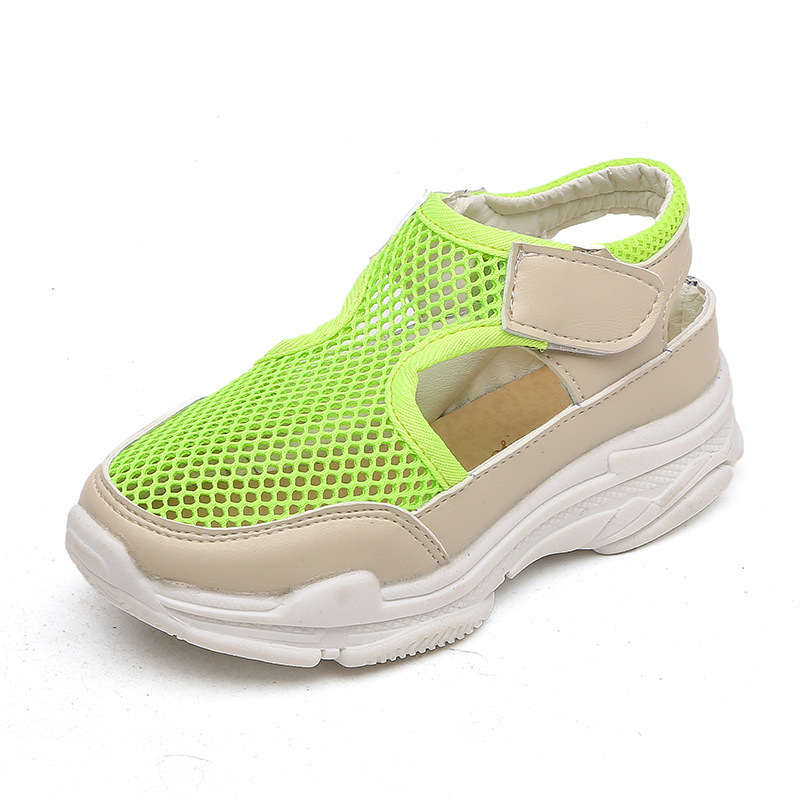 7bb61714c7fb4 COZULMA Kids Beach Sandals Boys Girls Summer Slippers Shoes Children Closed  Toe Air Mesh Designer Toddler ...