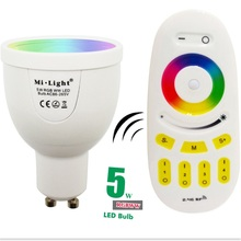 RGBW RGBWW 5W GU10 Led Bulb Lamp 2.4G Milight Wireless Dimmable Lights With Remote Control