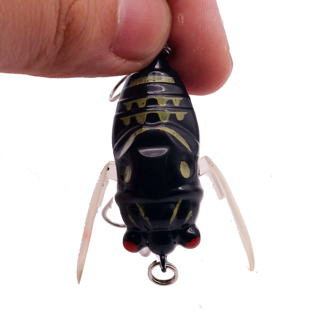 1pcs Bionic Cicada Hard Bait Fishing Lure 5cm/6g Simulation Minnow Fishing Wobblers Crankbait Pesca Insect Fishing Tackle