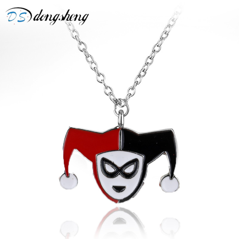 dongsheng FashionMovie Suicide Squad Girls Quinn Red & Black Pendant Necklace Halloween Christmas Collier Cosplay Jewelry-30 ...