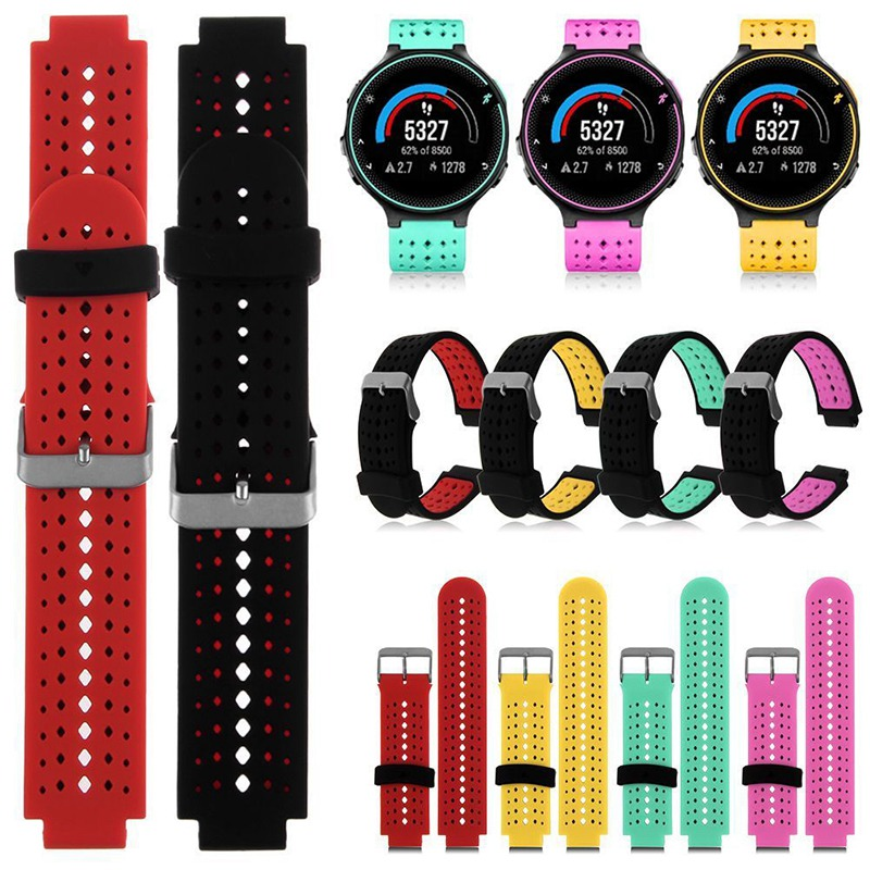 Hot Silicone Bracelet Watchband Replacement Wrist Support Watch Band Strap For Garmin Forerunner 230/235/630 Bracelet with Tools new 2016metal stainless steel watch band strap for garmin forerunner 220 230 235 630 620 735 high quality 0428