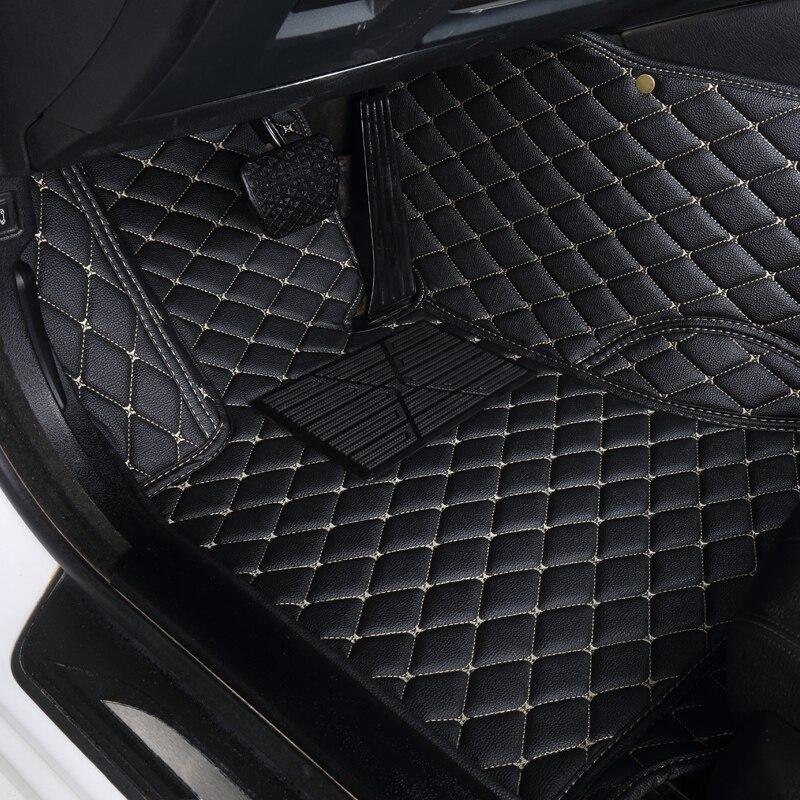 Tapis de sol de voiture 3D pour Toyota Land Cruiser 100 200 tapis de sol en cuir imperméable tapis de voiture intérieur