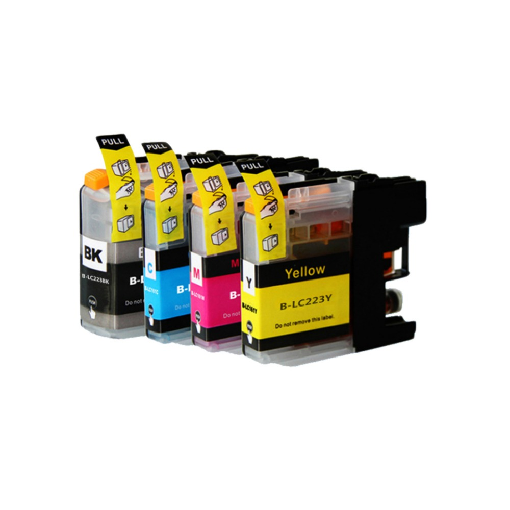 YLC 1 комплект LC223 совместимый чернильный картридж для Brother DCP-J562DW DCP-J4120DW MFC-J4620DW MFC-J480DW MFC-J680DW