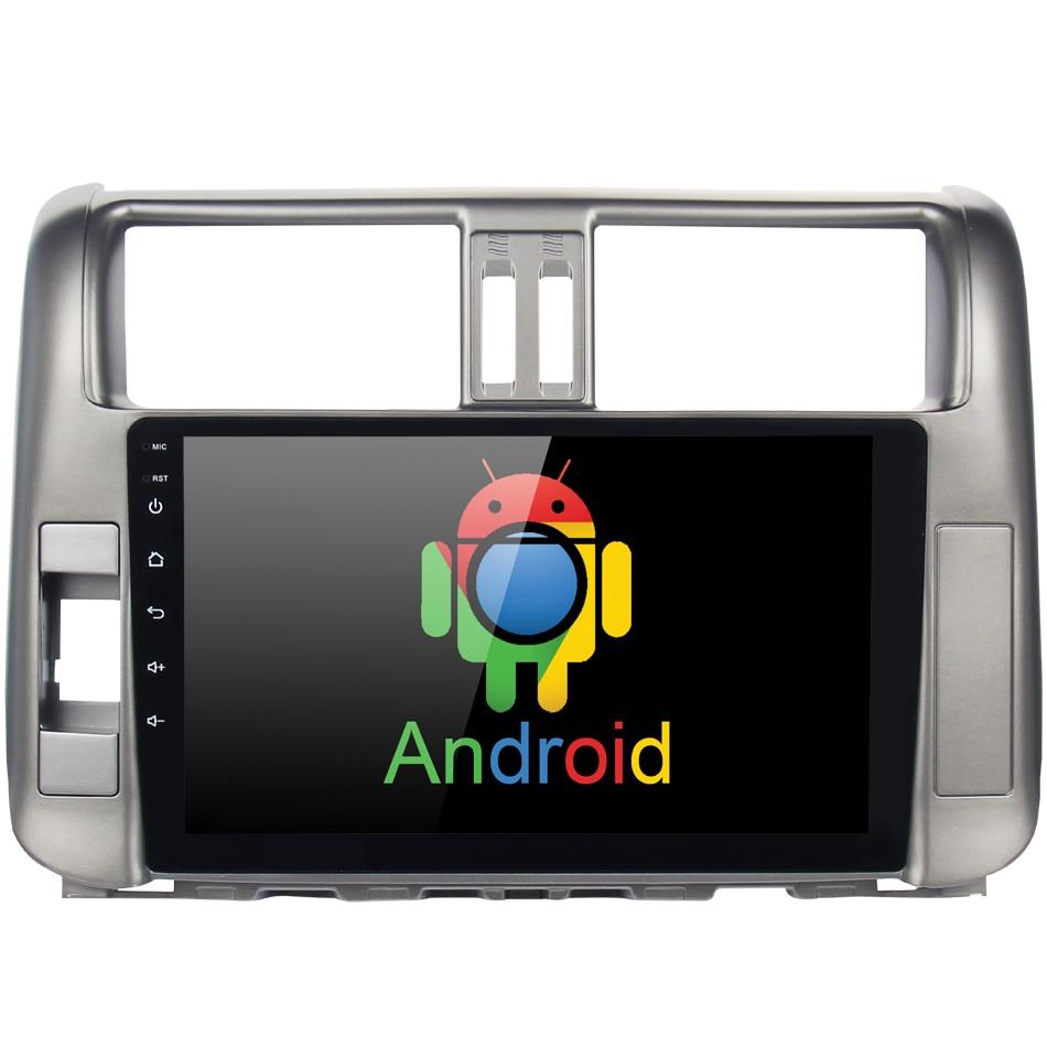 Voiture Android 8.0 GPS Navigation pour Toyota Prado 150 2010-2013 autoradio navigation tête unité multimédia 4 gb + 32 gb RDS HDMI PC