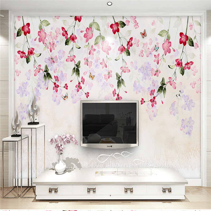 Large Custom Wallpapers 3D Florals Photo Wall Murals Hand-painted Watercolor Flowers Walls Papers for Living Room Home Decor custom photo wallpapers for walls 3d modern non woven wall papers mural for bedroom living room home decor flowers oil painting