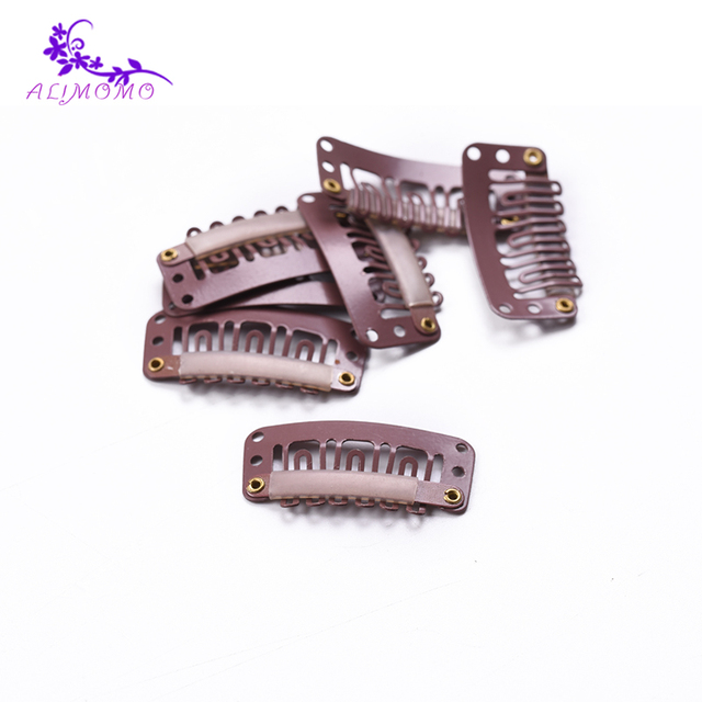 Wholesale 50piecespack 32cm 6 Teeth Snap Clip For Hair Extensions