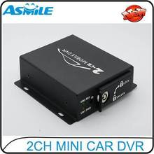 2 Channel Car Mobile DVR Recorder 30 fps D1 With Motion Detection Car Black Box Max 32GB SD Card Car SD Card Mobile DVR