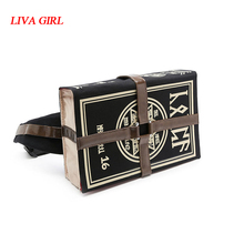 ЛИВА девушка Mihnah Волшебная книга Fff Prop сумка Холст сумка Винтаж сумка на плечо косплей реквизит