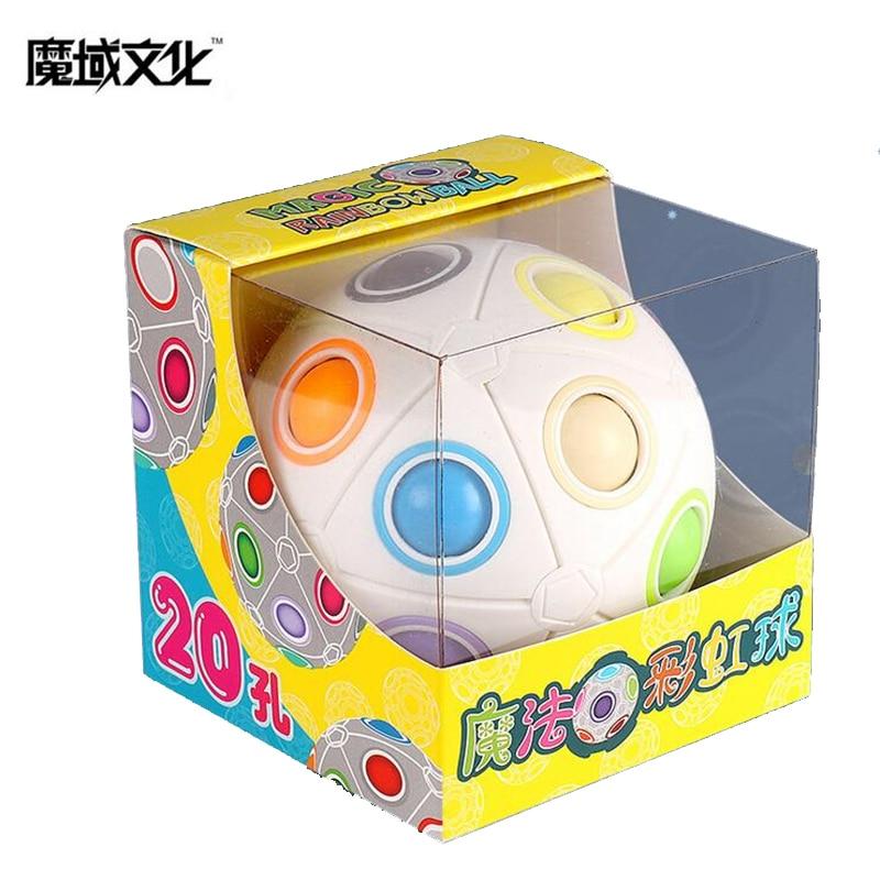 Moyu 20-holes Spheric Rainbow Magic Cube Puzzle Twist Ball Toy Brain Teaser Kids Gift Fashion Adult Kid Ball MY8723