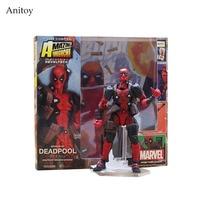 SCI-FI Revoltech No.001 Deadpool PVC Action Figures Collectible Model Toys 15cm KT3627