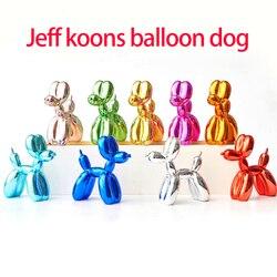 Moderno jeff koons balão cães esculturas adorno doméstico arte resina artesanato escultura arte para estátua decoração de casa