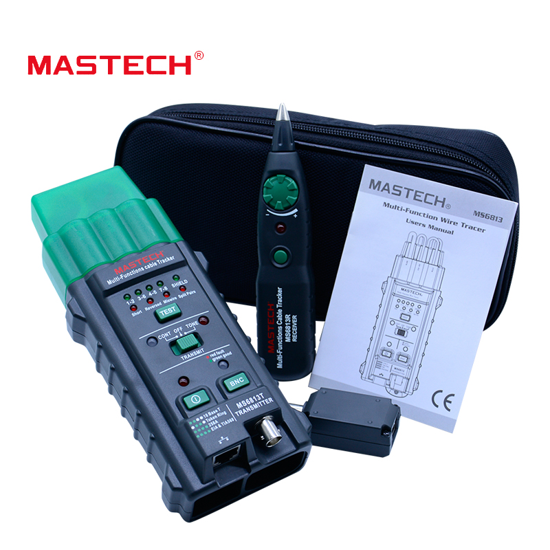 MASTECH MS6813 RJ45 Cable tracking finder Telephone Wire Tracker Tracer Toner Network Cable Tester Detector Line Finder mastech ms6818 portable instruments professional cable locator wire tracker pipelines detector tester ac dc voltage 12 400v