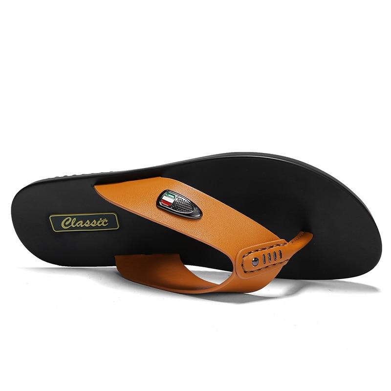 Black Plage orange Flops Marque Véritable Flip En D'été Chaussures Alcubieree Glisser Casual Pantoufles Cuir Hommes Mode Sandales Respirant De white Mens qUHwXxC
