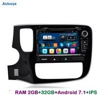 Aoluoya ips ram 2 gb 32 gb 안드로이드 7.1 2 din car radio dvd gps navi for mitsubishi outlander 2013-2015 오디오 멀티미디어 헤드 유닛