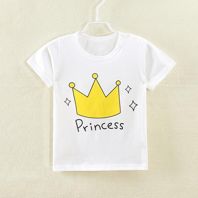 2018 New Fashion Cartoon 100% Cotton Short Sleeve Children Kids T-shirts 2-7 Years Boys Girls Tshirts Baby Girls Clothes