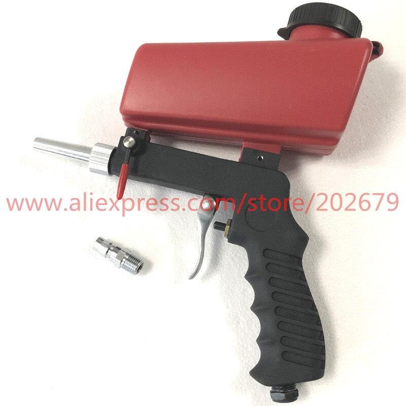 Gravity Feed Sandblasting Gun Air Sandblast Portable Speed Blaster Sand Spray Gun for Rust Removing Sandblaster