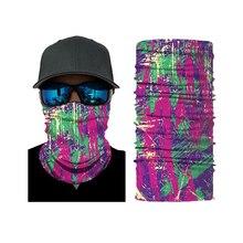 3D Camouflage Bandana Multifunctional Headwears Transparent Neck Warmer Outdoor Motorcycle Bike Multi Masks Scarf Half Mask multi striped bandana
