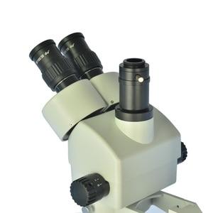 Image 3 - Simul focal 7X 45X Trinocular Zoom Stereo Microscope Head Simul focal Industrial Microscope WF10X 20mm Eyepiece Lens