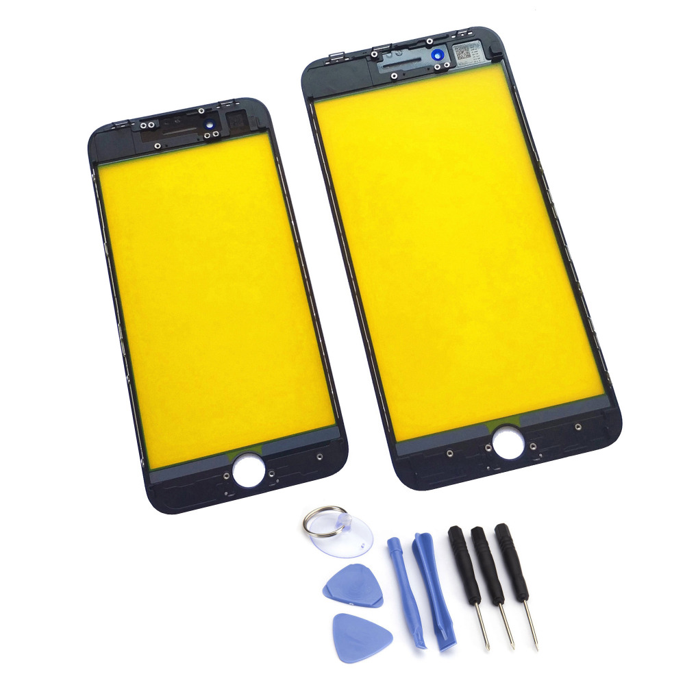 Front Glass For <font><b>iPhone</b></font> 8/8 Plus LCD Screen Outer Glass Lens Panel With Frame Bezel Assembly + Free Tools With Tracking Number
