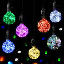 Christmas LED Light Bulb E27 Starry Fairy String Xmas Party Lamp Bulbs Home Decor Plastic starry romantic F80(China)