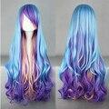 Lolita peluca inspirado por azul y púrpura y rosa Color mixto Punk