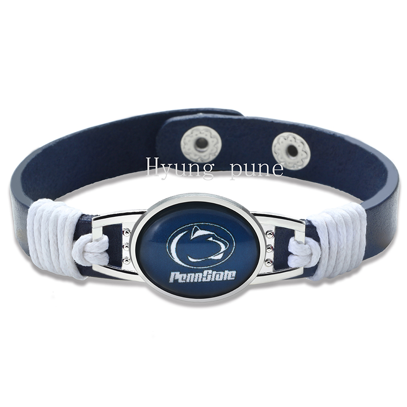 6 unids/lote! Penn State Nittany Lions ajustable Cuero auténtico ...