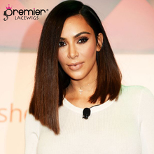 hot deal buy premier lace wigs human hair 360 lace wigs kim k ombre bob,150% thick density,pre-plucked hairline [360lw14]