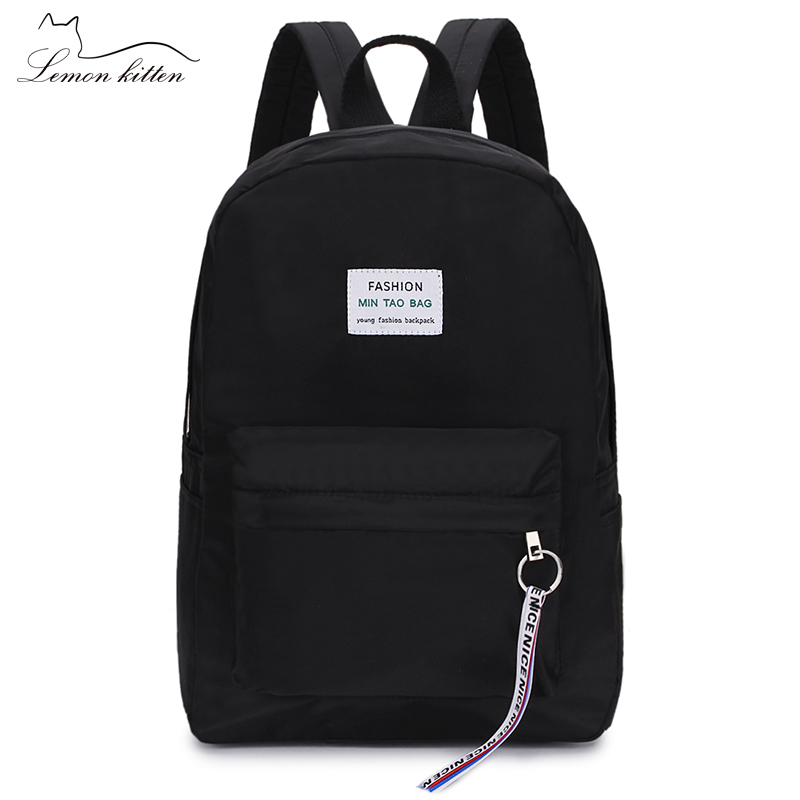 2019 New Women Backpack Tassel Letter Japan Ring Travel Backpack Female Ribbon Girl Women Backpack Mochilas
