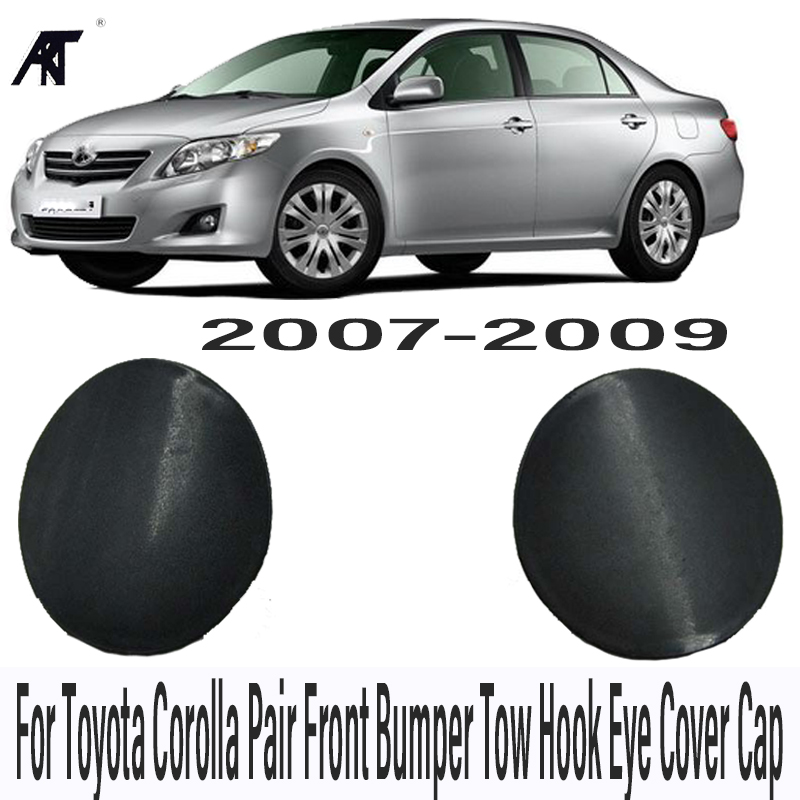2PCS Left and Right Front Bumper Tow Hook Eye Cover Cap For Toyota Corolla ZRE15# 07 08 09 Front Bumper Towing Hook Cover