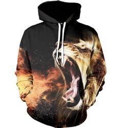 Uideazone 2017 europe america fashion brand hoodies men women 3d sweatshirts harajuku lion space print hooded.jpg 250x250