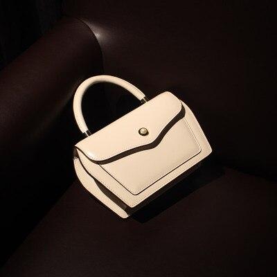 Conception contractée Style femmes noir brun sacs à main dame vache en cuir Messenger sac à bandoulière grande marque Style OL sacs - 4