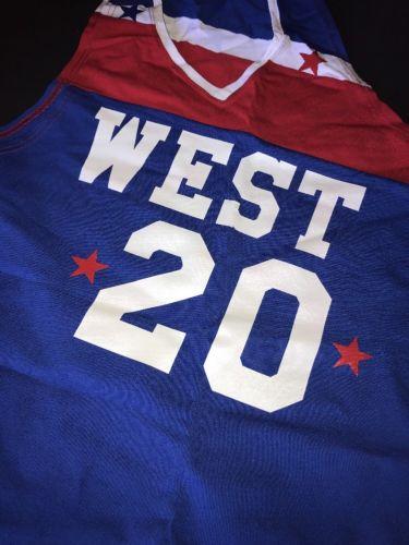 Top qualité #20 MARUICE LUCAS 1978-79 WEST ALL STAR maillot de basket-ball broderie surpiqué personnaliser n'importe quel nom et numéro