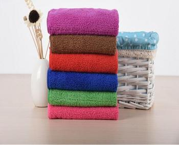 Solid color 4 colors 100pcs/lot Coral Fleece Hanging Hand Towel for Household Kitchen Bathroom Kids Children