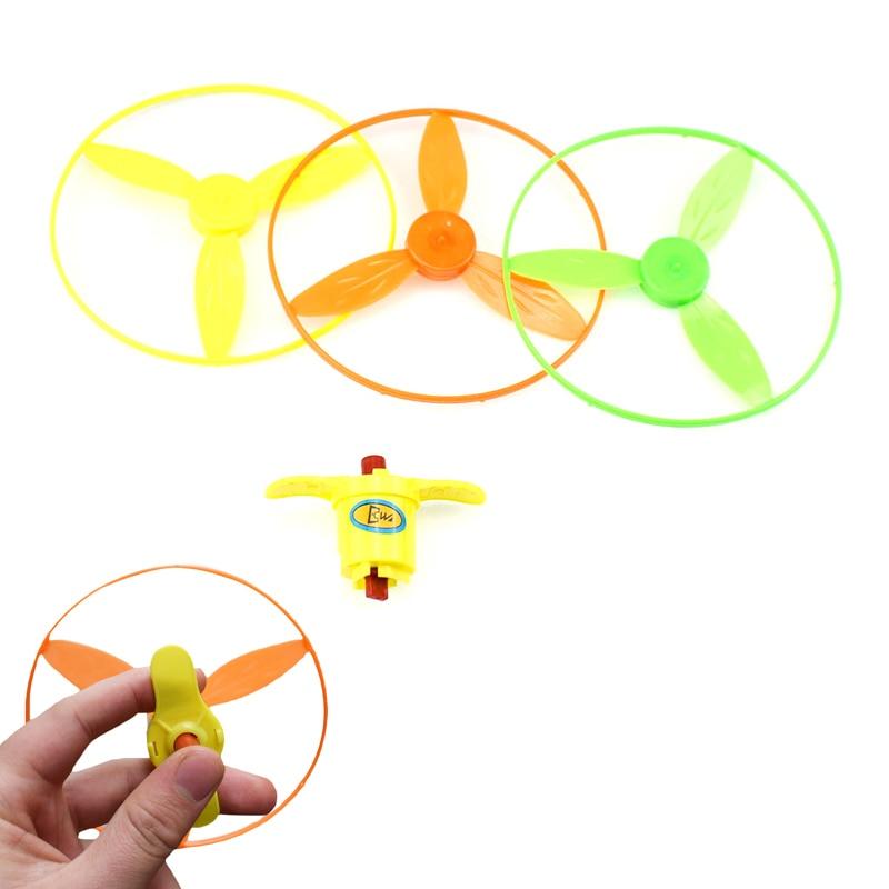 Spin lumière volante libellule soucoupe lancer et attraper disque catégorie UFO main soucoupe volante jouet cadeaux plein air jouet couleur aléatoire