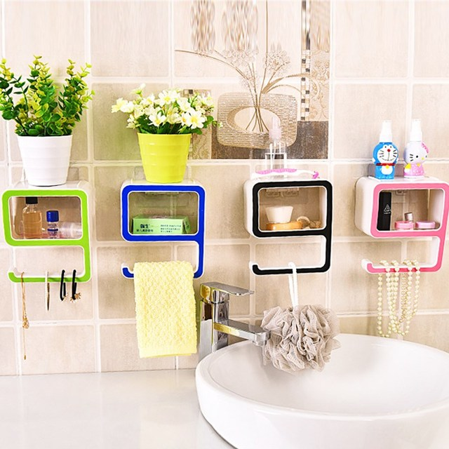 Creative Digital shape storage rack toilet paper soap holder wall ...