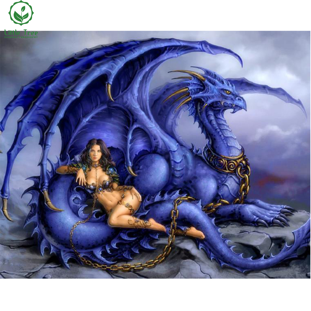 Female dragon trainer full 5d diamond painting mosaic for Gimnasio 5 dragones