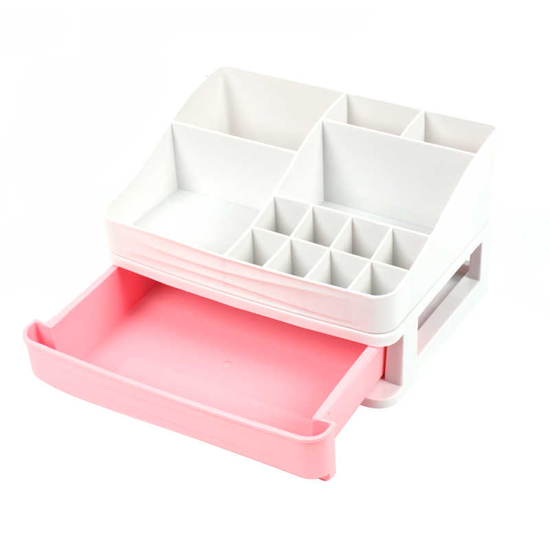 Plastic Cosmetic Storage Box Jewelry Nail Polish Makeup Container Cosmetic Drawer Home Office Desktop Sundries Organizers