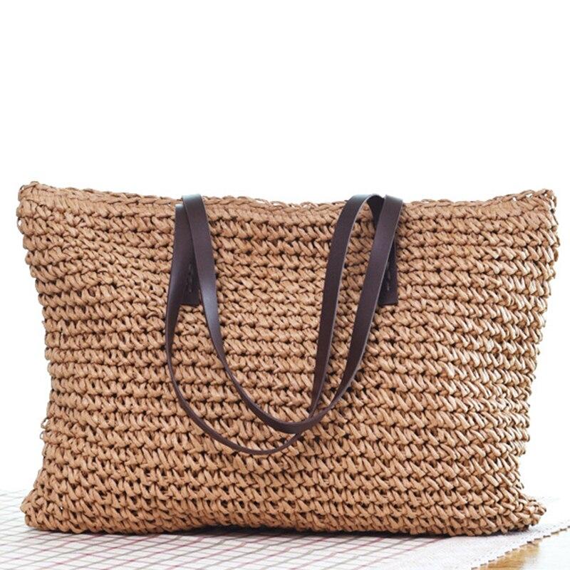 Bolsa de Palha Bolsa de Praia Bolsas de Verão de Vime Bolsas de Ombro Bohemia Artesanal Tote Bags Rattan
