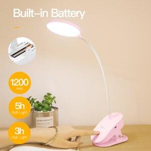 Image 4 - YAGEโคมไฟตั้งโต๊ะLEDแบบพกพาTouchบน/ปิดตาป้องกันตารางคลิป3โหมดDimmable USBชาร์จโต๊ะไฟ