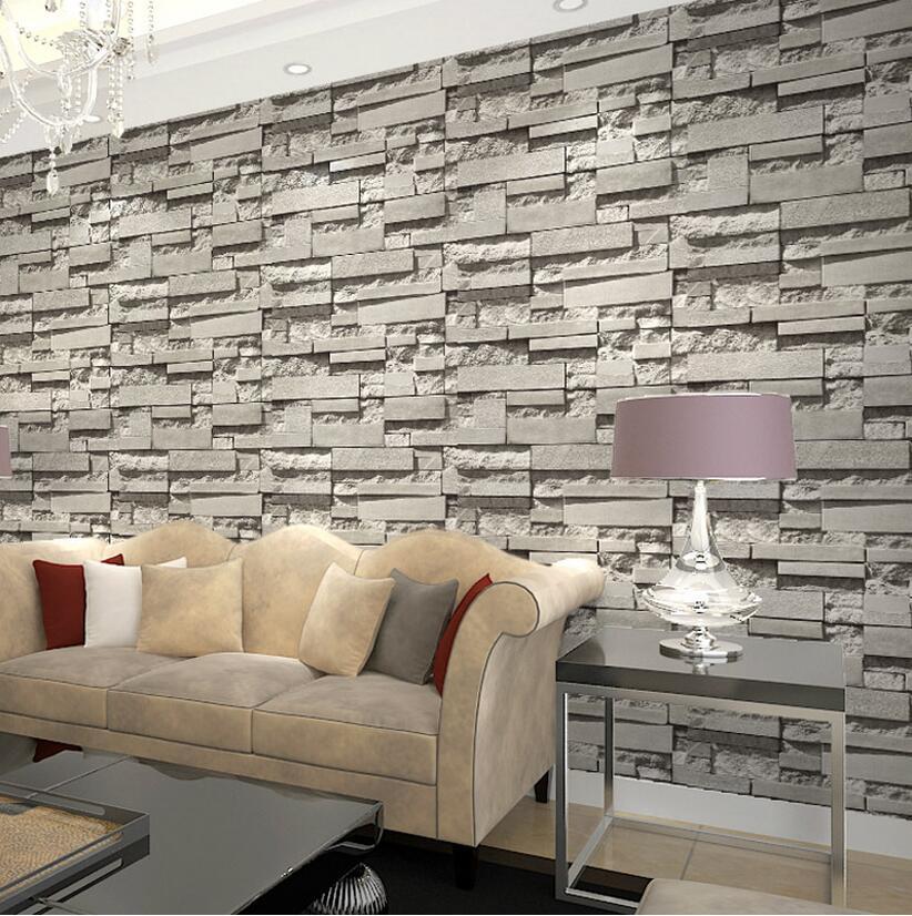 3d Brick Embossed Wallpaper Imported South Korea Designs Super 3d Stone Wallpaper For