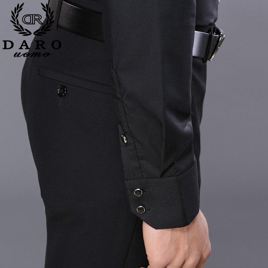 long sleeve pure color male tuxedo shirt 5