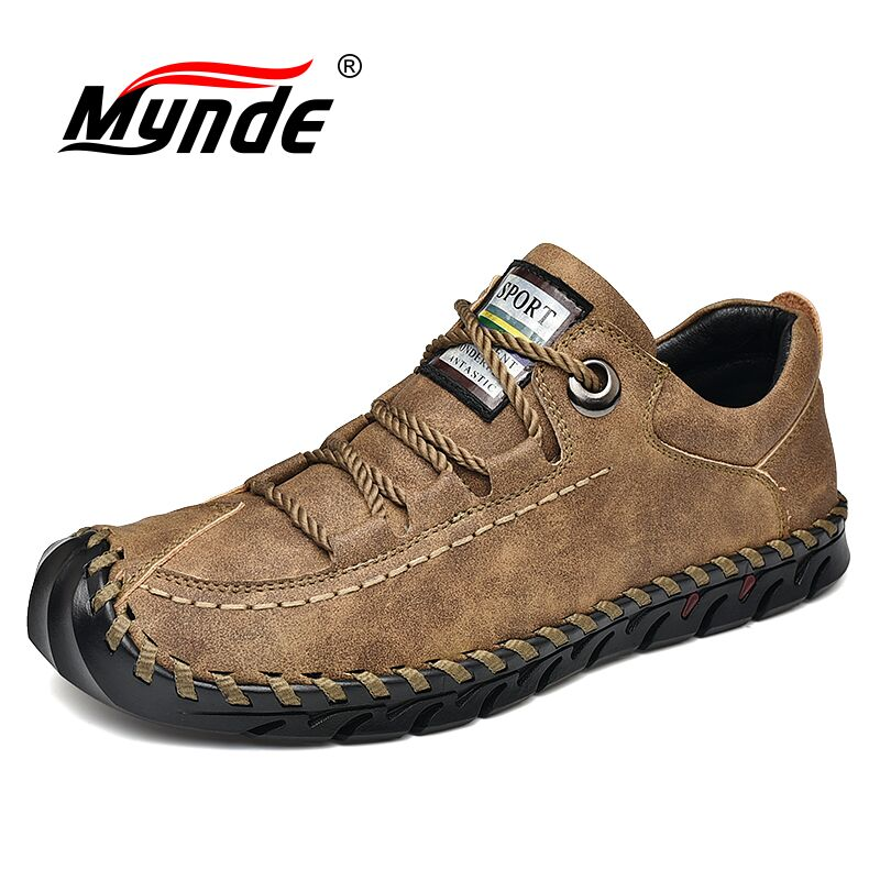 Outdoor Leather Men Shoes Comfortable Casual Shoes Men Fashion Breathable Flats Oxford Shoes Trainers Zapatillas Zapatos Hombre